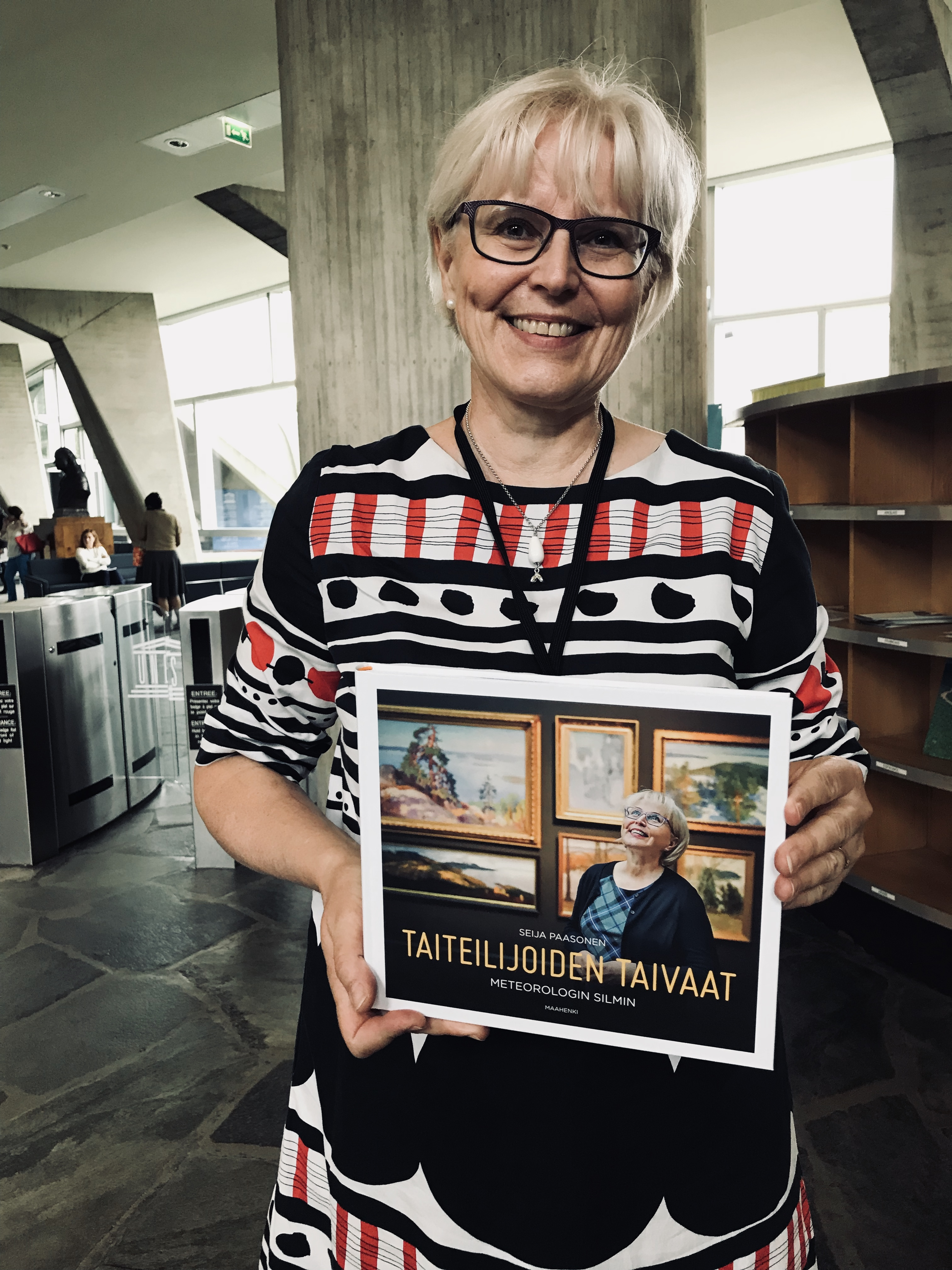 Seija Paasonen from Finland holding her new book